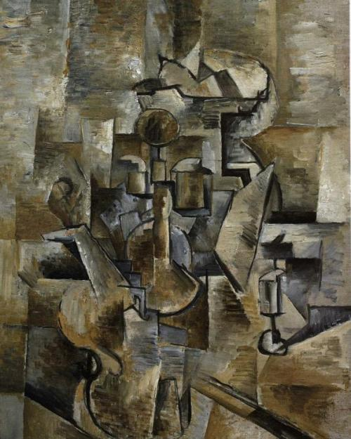 Violin-and-Candlestick-1910-Oil-on-canvas