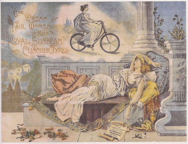 woman dreams of bicycle