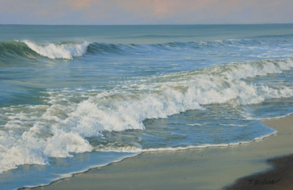 SEASCAPE-MARINE-PAINTING-FIRST-LIGHT-SURF