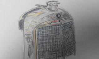 Bentley radiator